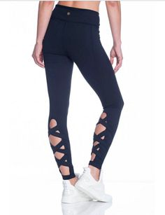 Super cute black leggings! Click this pin to find them at JCPenney.com!   Gaiam Strappy Back Leggings   activewear   workout pants   yoga pants   workout clothes   running pants   yoga clothes   fitness fashion   #ad #yogapants