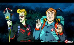 Ghostbusters Power packs by MikeBock on deviantART Ghostbusters The Video Game, Extreme Ghostbusters, The Real Ghostbusters, Macabre, My Childhood, Joker, Fan Art, Deviantart, Artist