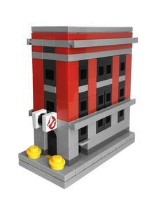 LEGO Mini Ghostbusters Firehouse by Obedient Machine #LEGO #microscale #ghostbusters