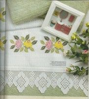 Gallery.ru / Фото #4 - 2011-06 - mornela Needle Lace, Stitch 2, Red Roses, Crochet, Flowers, Embroidered Towels, Cross Stitch Embroidery, Powder Room, Punto De Cruz