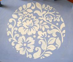 Stencil inspired by my vintage Indian Cushion