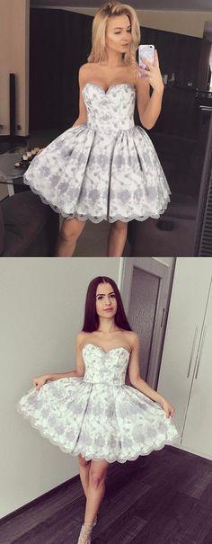 sweetheart homecoming dresses, appliques homecoming dresses, a linke homecoming dresses, cute homecoming dresses
