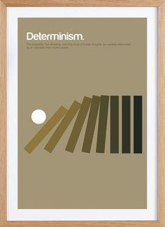 Determinism als Gerahmtes Poster von Studio Carreras | JUNIQE