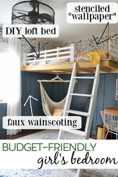 Loft Beds For Small Rooms, Small Room Bedroom, Room Ideas Bedroom, Bedroom Loft, Loft Bed Room Ideas, Loft Room, Bedroom Furniture, Teen Loft Beds, Girl Loft Beds
