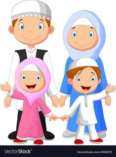 Gambar Animasi Kartun Islami Lucu Dp Bbm Illustration Happy Muslim