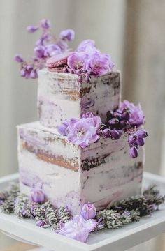Indescribable Your Wedding Cakes Ideas. Exhilarating Your Wedding Cakes Ideas. Purple Cakes, Purple Wedding Cakes, Wedding Cake Rustic, Cool Wedding Cakes, Wedding Cake Designs, Lilac Wedding, French Wedding, Wedding Flowers, Purple Desserts