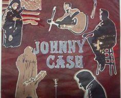 Screen print of Johnny Cash by Hannah Kressel