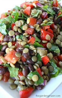 Black Bean/Lentil Salad with Cumin-Lime Dressing