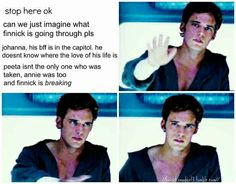 I always feel bad for Finnick when I see stuff like this. And Sam Claflin does an amazing job as Finnick.