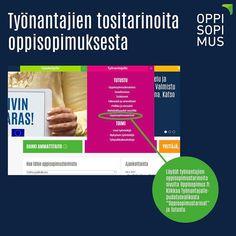 Löydät tarinoita työnantajien oppisopimuksesta sivulta Oppisopimus.fi. Tarinoita löytyy työnantajien yrittäjien sekä opiskelijoiden näkökulmasta. Jos kiinnostut oppisopimuksen mahdollisuuksista esim. rekrytointiin kysy lisää alueesi oppisopimustoimijalta. Löydät yhteystiedot myös osoitteesta Oppisopimus.fi. #oppisopimus #yrittäjä #työnantaja #rekrytointi