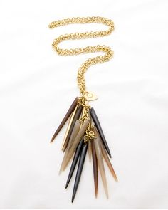 Horn  amp  Spike Necklace Luxury Jewelry 2051ffd1959d8
