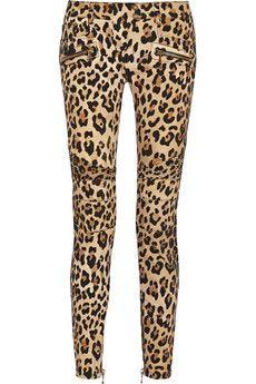 Balmain Leopard-print mid-rise skinny jeans | THE OUTNET
