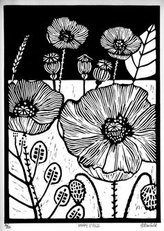 by Helen Maxfield - linocut - lino print - Drucktechnik Art Lessons, Linocut Printmaking, Drawings, Relief Printmaking, Screen Printing, Illustration Art, Art, Linocut Art, Prints