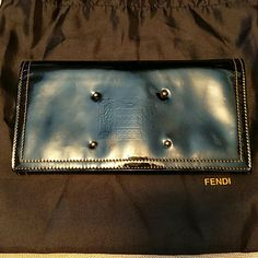 AUTHENTIC  FENDI WALLET VERY RARE BLACK PATIENT LEATER FENDI WALLET  COMES WITH THE DUST BAG ! FROM MY OWN COLLECTION ! BEAUTIFUL/CLASSY  NO RIPS/TARES / EXCELLENT CONDITION! SMOKE FREE HOME LOOKS BRAND NEW! FENDI Bags Wallets
