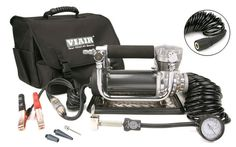 Viair 440P Portable Air Compressor Kit - 440P is the ultimate portable compressor kit. It can inflate a 37-inch tire from 0 to 30 PSI in less than 5 minutes. The 440P is the largest and most powerful portable compressor kit available today. Rock crawlers and semi-truckers alike will find the power of this unit irreplaceable. VIAIR 440P portable compressors are shipped complete with an open-ended (free-flowing) air delivery hose with a quick-connect coupling, a pressure gauge, an air filter…