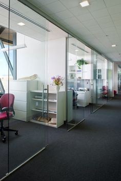office sliding doors. Klein USA - Rollglass Frameless Glass Sliding Doors Displayed At The National Wildlife Refuge San Diego, CA. By Architects Line And Space, LLC. Office C