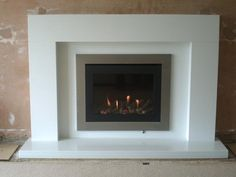 Paragon hole in the wall gas fire with custom made surround by the Nottingham Fireplace centre http://www.nottinghamfireplacecentre.co.uk/