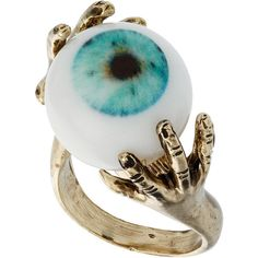 Eye Ball Ring  I would wear the HELL out of this!