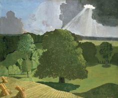 A Gloucestershire Landscape by John Northcote Nash 1914 Oil on Canvas (@AshmoleanMuseum)