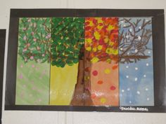 Four season tree art project
