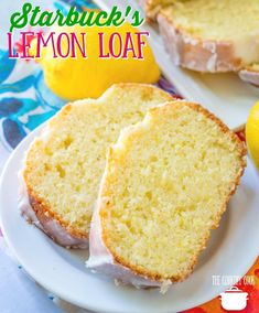 Copycat Starbuck's Lemon Loaf recipe from The Country Cook Lemon bread Lemon pound cake Loaf Recipes, Pound Cake Recipes, Lemon Recipes, Cooking Recipes, Cake Recipes With Oil, Buttermilk Recipes, Burger Recipes, Healthy Recipes, Dessert Simple