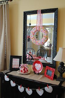 Naptime Decorator: Conversation Hearts Wreath and Valentine's Day Buffet Table