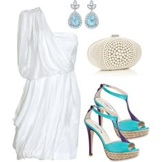 could be cute for rehersal dinner with any bright color shoes