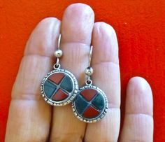 Victorian Scottish Agate Earrings - Sterling Silver from ccstreasures on Ruby Lane