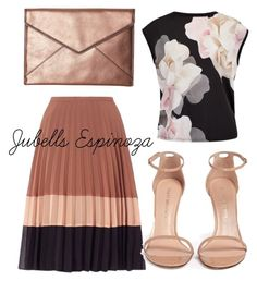 """Outfit #101"" by jubells-espinoza on Polyvore featuring Miss Selfridge, Ted Baker, Stuart Weitzman and Rebecca Minkoff"