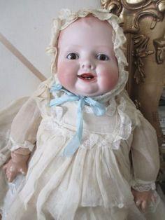 vintage+bisque+baby+dolls | Antique Bisque Baby Doll 18 inch *BONNIE BABE* Georgenne Arvrill #1402