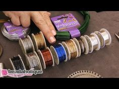 Beadaholique has supplied jewelers since Watch this video - Beadaholique Live Class: Basics of Wire Wrapping Wire Tutorials, Jewelry Making Tutorials, Silver Jewelry Box, Silver Ring, Bead Jewelry, Jewelery, Wire Wrapped Bangles, Wire Jewelry Making, Artistic Wire
