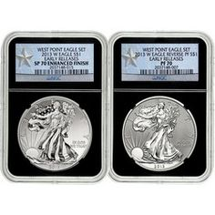 Pre-Order 2013 W Silver American Eagle West Point 2pc Silver Set NGC 70 ER Black Retro Star Label