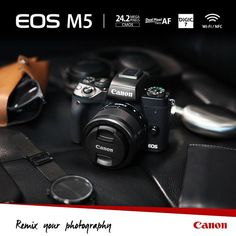 Canon: EOS M5 Mirrorless Camera with 24.2 MP CMOS Sensor, Dual Pixel CMOS AF, Built-in Electronic Viewfinder, Built-in Wi-Fi and NFC; Zoom Lens EF-M 18-150mm f/3.5-6.3 IS STM is Compact & Lightweight http://www.photoxels.com/canon-eos-m5/