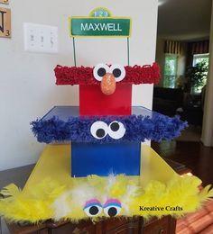 Sesame Street Birthday Party Ideas.  Sesame Street Cupcake Stand