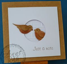 """""""Stargroves: Less is More Week 169 - a sketch"""" to an Stampin' Up Build a Bird punch, CAS"""