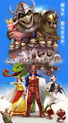 Super Mario in Hardcore RPG format...missing Luigi they even have daisy but still hardcore