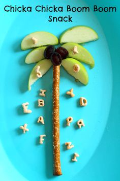 Read Chicka Chicka Boom Boom and eat this summer palm tree snack!
