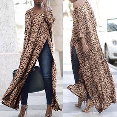 Side vented leopard-print t-shirts and a scoop neckline – mumetaz , Scoop Neck Side Vented Leopard Print T-Shirts – mumetaz , Products I Love Source by Look Fashion, Hijab Fashion, Autumn Fashion, Fashion Dresses, Womens Fashion, Casual Wear, Casual Outfits, Cute Outfits, Mode Kimono