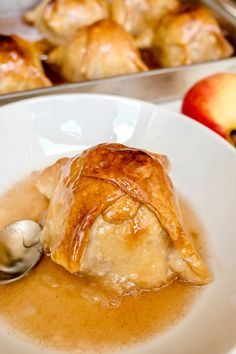Perfectly flaky pastry wraps juicy tart apples with an amazing cinnamon sugar syrup making these apple dumplings the ultimate dessert. So comforting and delicious! I am so excited to share my Great Aunt Ina's famous apple dumpling recipe with y'all today! This recipe holds such a sweet and special place in our family. Aunt Ina...
