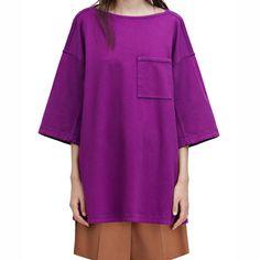 Acne Studios Avery Purple Boatneck Shirt