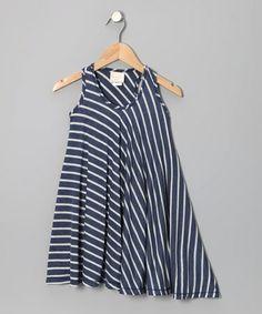 Look at this #zulilyfind! Blue Stripe Twirl Dress - Girls #zulilyfinds