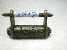 Chinese old style Bronze password Lock & Key