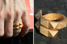 Haute High Tech: 20 Must-Have Pieces of 3D Printed Jewelry via Brit + Co (I'm into this ring yo)