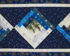 Fall Star Table Runner quilt pattern by KarenKuskeQuilts on Etsy