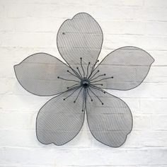 Outdoor Metal Flower Wall Art Simple Decorative 3D Black Finish Metal Flower Garden Wall Art  Garden Review