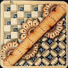 """Diva's Weekly Challenge #177: """"Truffle by Caroline Broady, CZT"""".  Tile drawn by Lily M. / Lily's Tangles."""