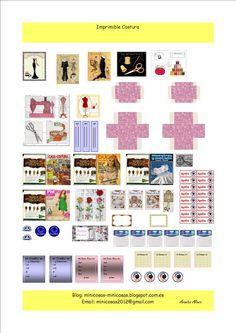 imprimible para crear miniaturas escala 1:12 siendo el tema la costura