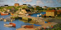 Early Evening Peggy's Cove 5 H x 10 W Offset by PaulHannonArt, $20.00