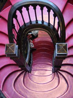 Pink & black stairway