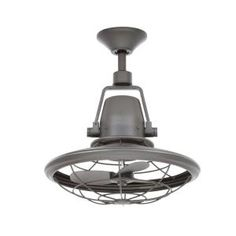 Home Decorators Collection Bentley II 18 In. Indoor/Outdoor Natural Iron  Oscillating Ceiling Fan With Wall Control